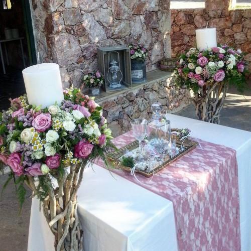 Wedding venue with church