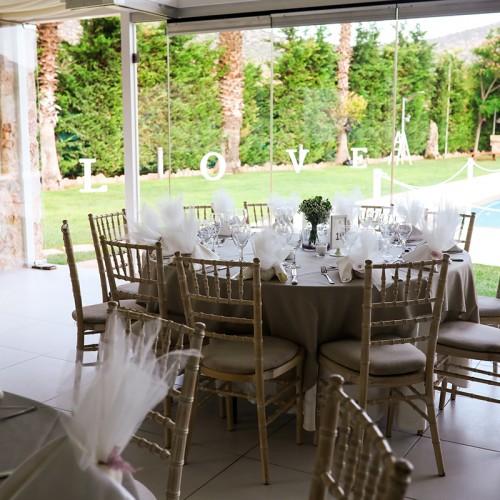 Wedding venue with hall